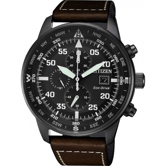 CITIZEN Eco-Drive Black Stainless Steel Chronograph CA0695-17E