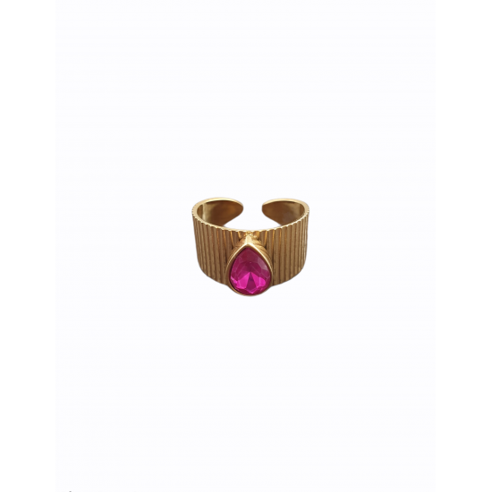 Δαχτυλίδι Ora Ora από ανοξείδωτο ατσάλι LW-0217