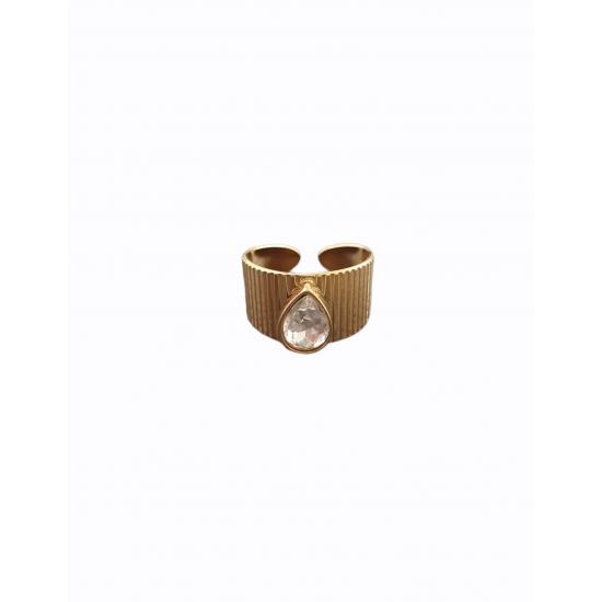 Δαχτυλίδι Ora Ora από ανοξείδωτο ατσάλι LW-0219