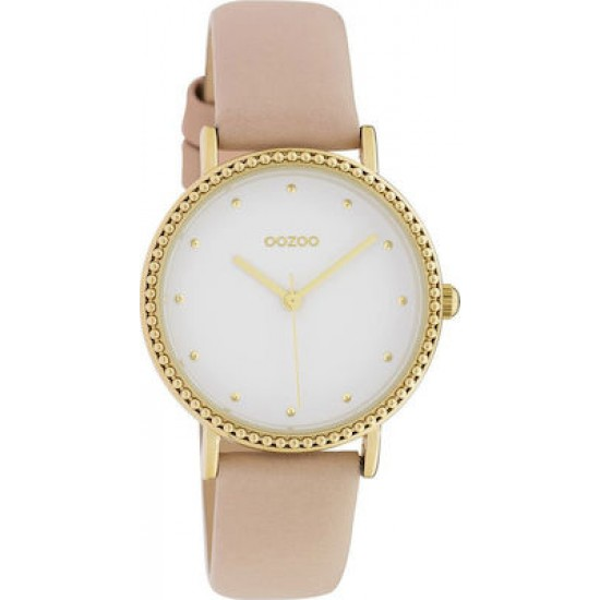 OOZOO TIMEPIECES Soft Pink Leather Strap C10421