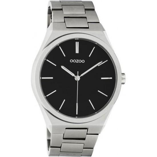 OOZOO Timepieces Silver Metallic Bracelet C10521