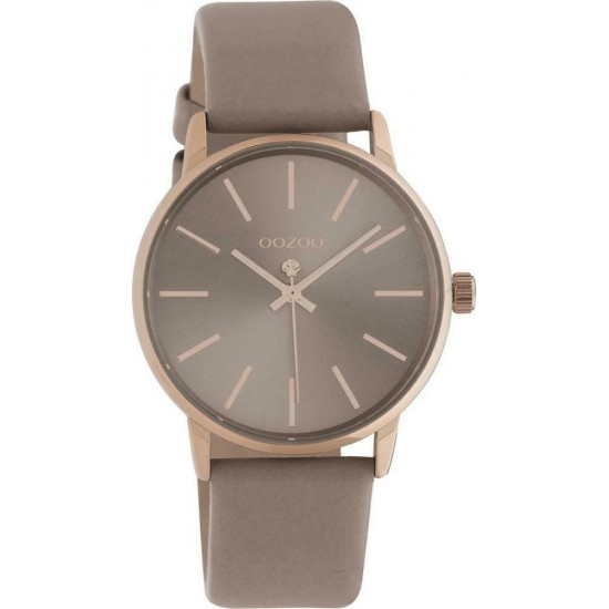 OOZOO Timepieces Brown Leather Strap C10721