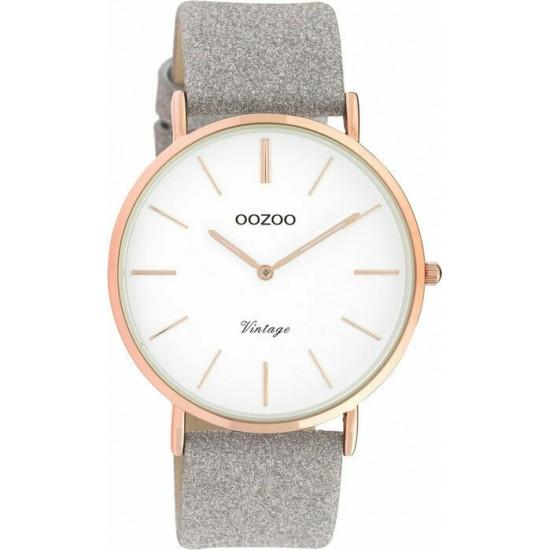 OOZOO Vintage Grey Leather Strap C20151