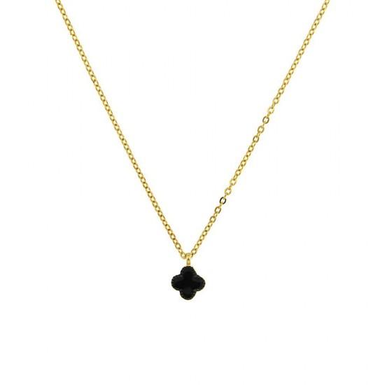 Κολιέ Jools από ασήμι 925 με μαύρο σταυρό 177M4203.2