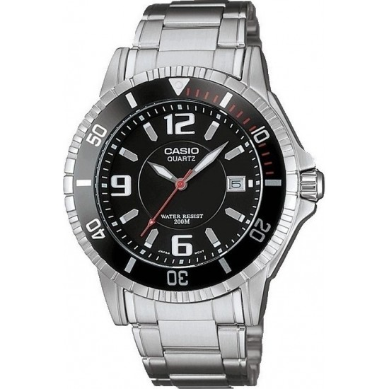 CASIO Collection Silver Stainless Steel MTD-1053D-1AV