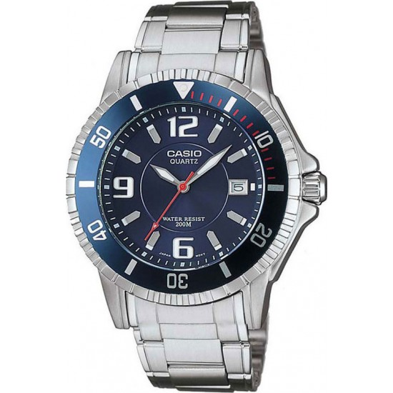 CASIO Collection Silver Stainless Steel MTD-1053D-2AV