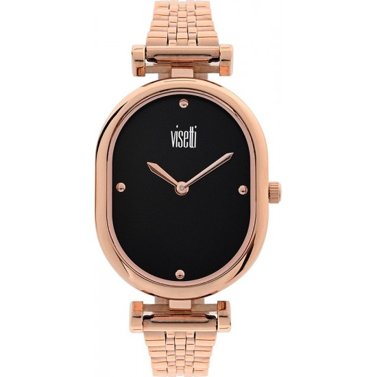 VISETTI Twist Rose Gold Stainless Steel Watch HF-356RB