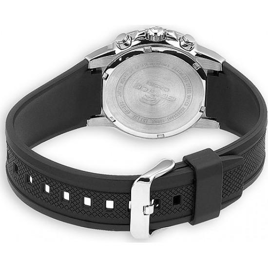 CASIO Edifice Chronograph Black Rubber Strap EF-552-1AVEF