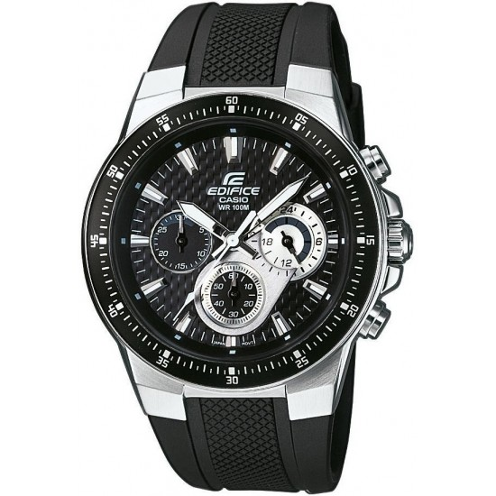 CASIO Edifice Chronograph Black Rubber Strap EF-552-1AVEF