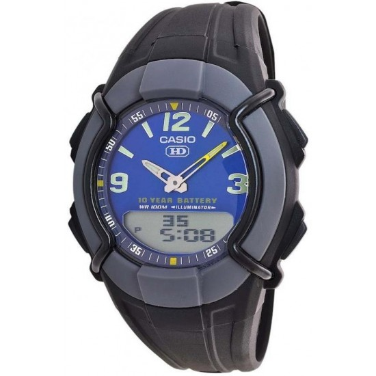 CASIO Collection Black Rubber Strap HDC-600-2BVES