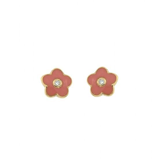 Σκουλαρίκια Jools από ασήμι 925 σε σχήμα λουλουδιού JN2717-E