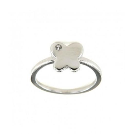 Δαχτυλίδι Jools ασημί με πεταλούδα R160019.3