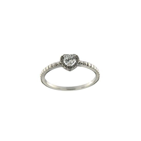 Δαχτυλίδι μονόπετρο Jools από ασήμι 925 με ζιργκόν R83512.2