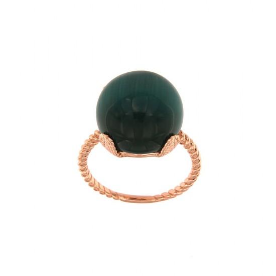 Δαχτυλίδι Jools από ασήμι 925 με ημιπολύτιμο λίθο SR1514.2