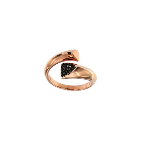 Δαχτυλίδι Jools από ασήμι 925 με μαύρα ζιργκόν SS-B1407R