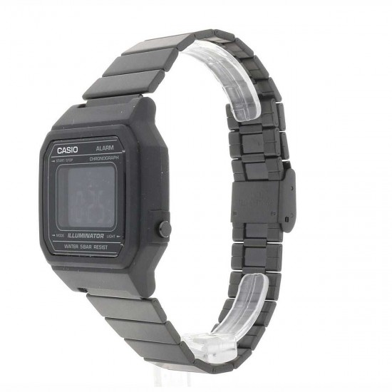 CASIO Collection Black Stainless Steel Bracelet B-650WB-1BEF