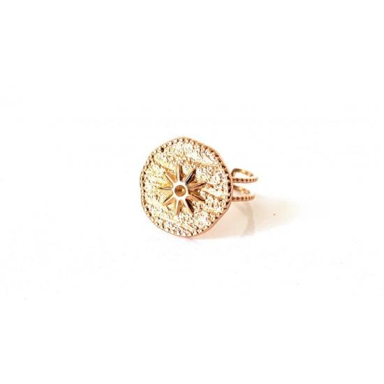 Δαχτυλίδι Ora Ora από ανοξείδωτο ατσάλι με αστέρι CA-0815