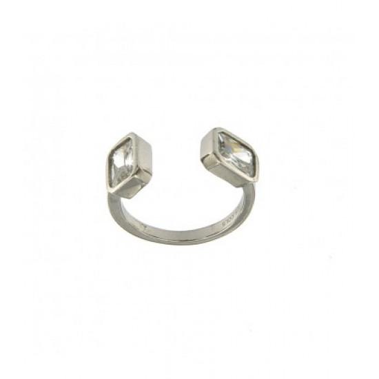Δαχτυλίδι Jools ασημί με ζιργκόν NR16670.2