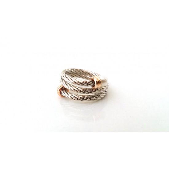 Δαχτυλίδι Ora Ora από ανοξείδωτο ατσάλι WR-9012