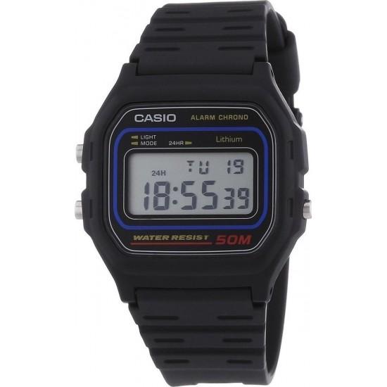 Casio ψηφιακό με μαύρο λουράκι W-59-1VQES